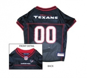 Houston Texans Dog Jersey – Red Trim