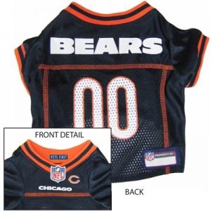 Chicago Bears Dog Jersey – Orange Trim