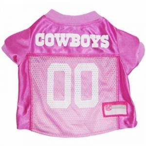 Dallas Cowboys Dog Jersey – Pink