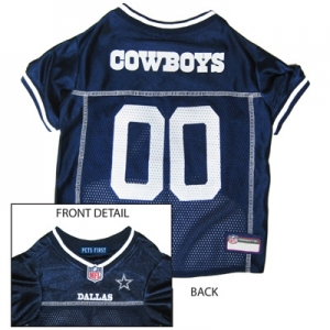 Dallas Cowboys Dog Jersey – White Trim