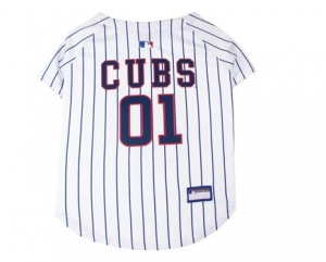 Chicago Cubs Dog Jersey - White Stripes