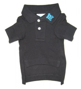 Black Button's Up Polo