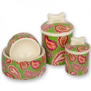 Palm Beach Paisley Bowls & Treat Jars Collection