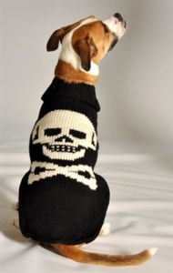 Black Skull Sweater