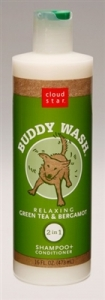 Cloud Star® Buddy Wash™ Pet Shampoo Plus Conditioner - Green Tea and Bergamot 16 fl. oz.