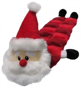 Kyjen Christmas Squeaker Mat Long Body - Santa