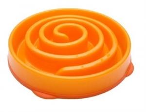 Kyjen Dog Games Slo-Bowl Coral Summer Orange