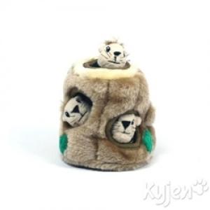 Kyjen Dog Toy Puzzle Plush- Hide-A-Squirrel Jr.
