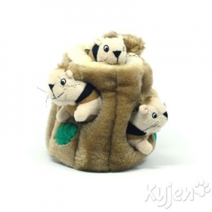 Kyjen Dog Toy Puzzle Plush- Hide-A-Squirrel