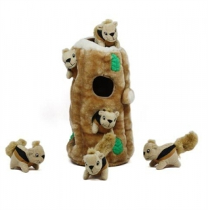 Kyjen Dog Toy Puzzle Plush- Hide-A-Squirrel Ginormous