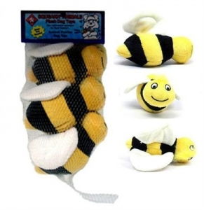 Kyjen Dog Toy Puzzle Plush- Squeakin' Animals Hide-A-Bee Replacement 3 Pack