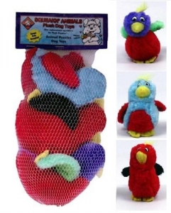 Kyjen Dog Toy Puzzle Plush- Squeakin' Animals Hide-A-Bird Replacement 3 Pack