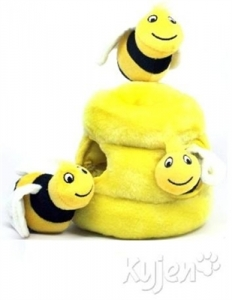 Kyjen Dog Toy Puzzle Plush- Hide-A-Bee