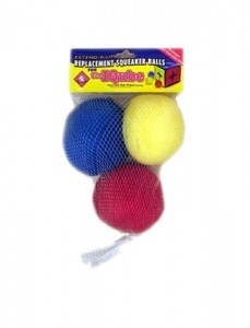 Kyjen Dog Toy Puzzle Plush- Squeakin' Balls I-Qube Replacement 3 Pack