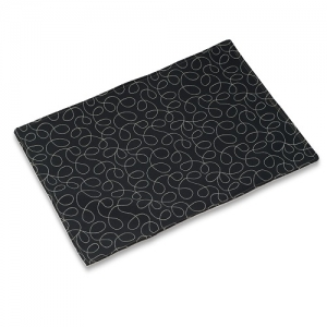 Black Loopy Mess Mat