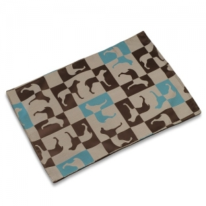 Chocolate Mint Gameboard Mess Mat